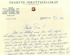 Örgryte IS uppvaktade Tore Svensson med kontraktsförslag. Men någon övergång blev det aldrig.