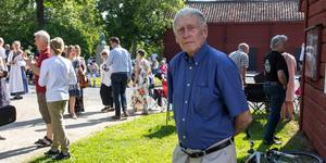 Örjan Andersson var med och startade upp nationaldagsfirandet i Dybecksgården.