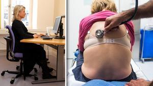 Vision vill se högre löner och en större roll för medicinska sekreterare. Bilder: Anders Wiklund/TT / Isabell Höjman/TT