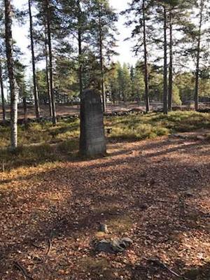 Bild från kyrkogården vid Östra Silvberg. Foto: Privat