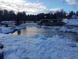 Ånäsparken i Kovland har drabbats hårt av vårfloden. Läsarbild: Marcus Nyberg
