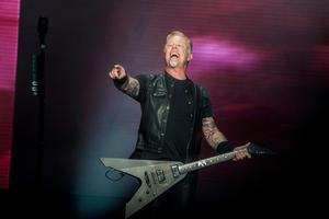 Sångaren James Hetfield (bilden) har tillsammans med trummisen Lars Ulrich varit med från början. Arkivbild.Foto: Amy Harris