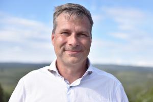 Tobias Forngren är grundare till Freelway som tagit fram tjänsten för samåkning som nu testas i Skattungbyn.
