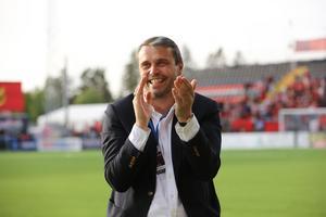 Daniel Kindberg under ÖFK:s match mot BK Häcken på Jämtkraft Arena den 26 maj. Foto: Anneli Åsén