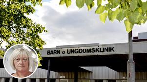 Anne Thelander är chef för den medicinska verksamheten för barn och ungdomar i Västernorrland. En del av den är barnkliniken i Sundsvall.