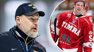 Tre Kronors Rikard Grönborg ger nu sin syn på Timrå IK:s succéspelaren Jonathan Dahlén. Foto: Petter Arvidsson och Pär Olert/Bildbyrån