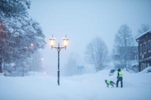 Arkivbild. Snöfall väntas under helgen på många håll i länet.