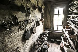 Här förvarades bland annat porslinet.