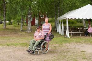 Hanne och Torsten Hellsing bor i Fredriksberg. – Vi kom hit för trivseln och för att träffa folk, säger Hanne.