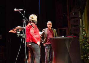 Per Lundgren (C), kultur- och fritidsnämndens ordförande, var en av flera som var upp på scen.