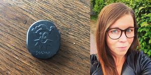 Annica Thullnérs misstänker att någon lagt ut myntet för att planera inbrott när hon är borta. Foto: Privat