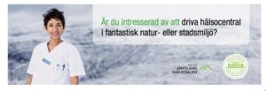 Annons i Läkartidningen om att driva hälsocentraler i privat regi.
