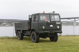 Även en militär lastbil – en Scania – fanns med.
