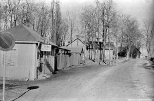 Apelvägen, 1950-tal. Fotograf: Okänd (Bildkälla: Örebro stadsarkiv)