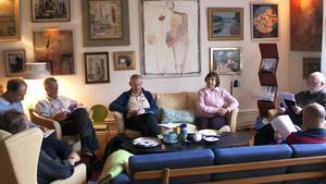 Västmanlands Författarsällskap tar form i Villa Welcome i Västerås.