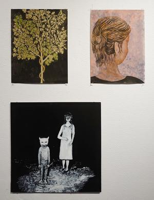 """""""Naturstudie (efter mural i Pompeji)"""", """"Studie"""", """"Trick or treat""""."""