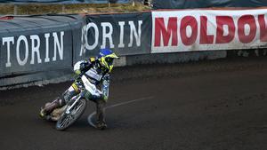 Fredrik Lindgren blev tvåa i Hallstaviks GP.
