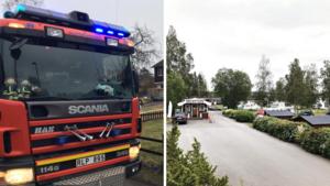 Larm om brand vid Snibben camping – visade sig vara kontrollerad eldning