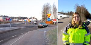 Under två år kommer Bergsgatan att stängas av vid vägbygget. Trafiken leds om via Tegelvägen.