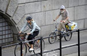 Vanlig trafikregler gäller även cyklister.