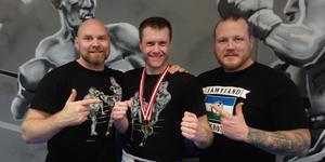Coach Daniel Hansson, Niklas Eberstein, Assistant coach Pär Kristoffersson. Fotograf: Thomas Haurum