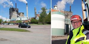 Henrik Holm, platschef vid Skutskärs Bruk, tror stenhårt på satsningen att göra mer fluffmassa i stället för vanlig pappersmassa. Foto. Conny Svensson.