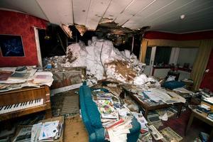 Så här såg vardagsrummet ut i mars.