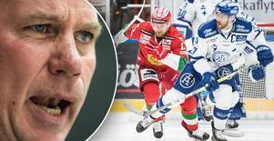 Moras nye tränare Mats Lusth, till vänster, har börjat ordkriget inför derbyserien mot Leksand. Bilder: Bildbyrån.