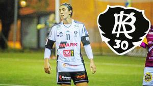 Alana Smith gjorde 12 mål i elitettan för BK30 förra säsongen. I juli gör hon comeback i klubben. FOTO: Oliver Åbonde/Arkiv