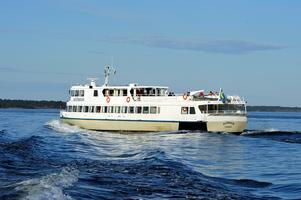 Blidösundsbolagets Sjöbris är en av de båtar som angör Stämmarsund. Foto: Hasse Holmberg/SCANPIX