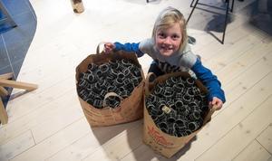 Folke Vikström plockade 1335 plastpluttar.