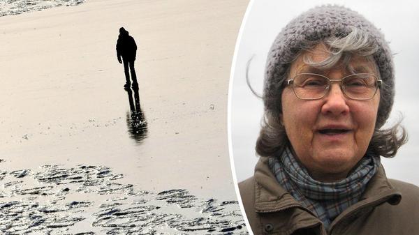 Eva Hultman förlorade sin man Lennart när han för två år sedan omkom i en isränna som brutits vid Muskö. Foto: Johan Nilsson/TT och Solveig S Thörnblom