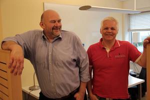 Lasse Brovall, till vänster, har fått hjälp med företagsutveckling efter kontakt med Tommy Henriksen och Närljus.
