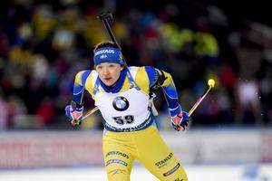 Linn Persson blev bästa svenska på söndagen. Bild: Anders Wiklund/TT.