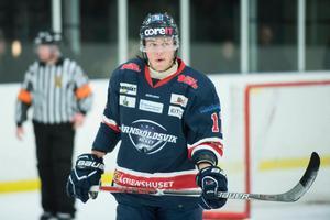 Oskar Söderberg gjorde Örnsköldsviks enda mål mot Piteå. Foto: Adam Göransson