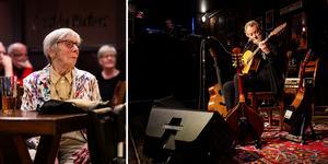 Irländaren Andy Irvine gästade under fredagen Blueskällaren. Ett 50-tal gäster var på plats för att se musikern. En av dem var 90-åriga Annagreta Källman.