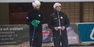 Magnus Joneby fanns med på isen men deltog inte i träningen. En känning gjorde att han stod över men det återstår att se om han kan spela på tisdagskvällen.