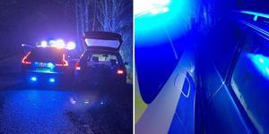 Norrtäljepolisen stoppade den vårdslöse och drogade föraren genom att preja honom av vägen.  Bilderna är hämtade från Instagramkontot polisen_norrtälje. Foto: Polisen