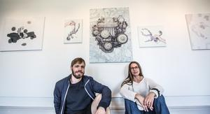 Gisle Utgarden och Anna Norvell ställer ut på Örnsköldsviks museum och konsthall.
