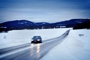 Vinterväg i Norrland. Foto: Arkiv