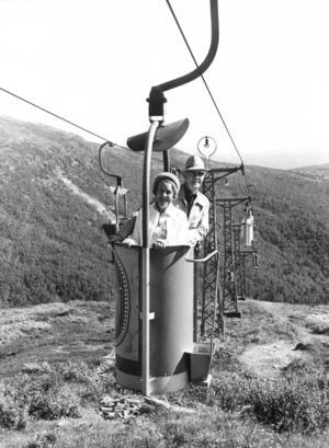 Sista turen med hinkliften, 29 augusti 1976. Foto ur ÖP:s arkiv