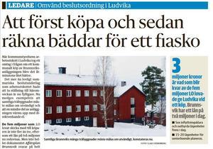 Nya Ludvika Tidning den 9 december 2014.