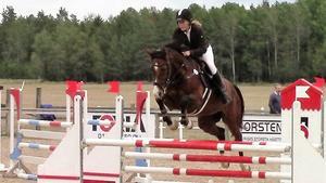 Anna Pettersson, och hästen Cashmaker A.
