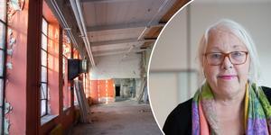 """""""Vi går in i en lågkonjunktur och då undrar jag om det är så vettigt att satsa på en byggnad man förut struntat i"""" säger Marita Lärnestad (M) som vill att gjuteriet rivs."""