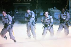 Harold Ramis, Dan Aykroyd, Bill Murray and Ernie spelar spökjägarna