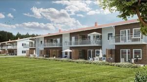 Så här det tänkt att de nya husen på Söndagsvägen ska se ut. Bild: Pressbild