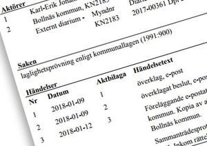 Karl-Erik Wångstedt har avböjt att bemöta kommunens yttrande om överklagan.