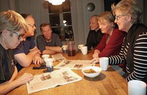 Byborna hade hoppats på ett uppföljande möte med Hallsbergs kommun.  I stället utpekas de i en annons för att ha orsakat negativa skriverier om Kånsta kvarn. Här ses Kicki Ahrel, Kalle Bernsgården, Per Egemar, Thomas Persson, Eva gustavsson och Kerstin Carlqvist Persson.