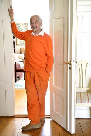 Barnboksförfattaren Lennart Hellsing blev 96 år. Foto: Henrik Montgomery / TT