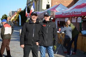 Marknadens manager Francois-Xavier Mauraisin och Lasse Westin, centrumutvecklare, tror på uppemot 100 000 besök under årets matmarknad.